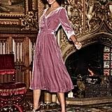 Boden Farrah Velvet Dress