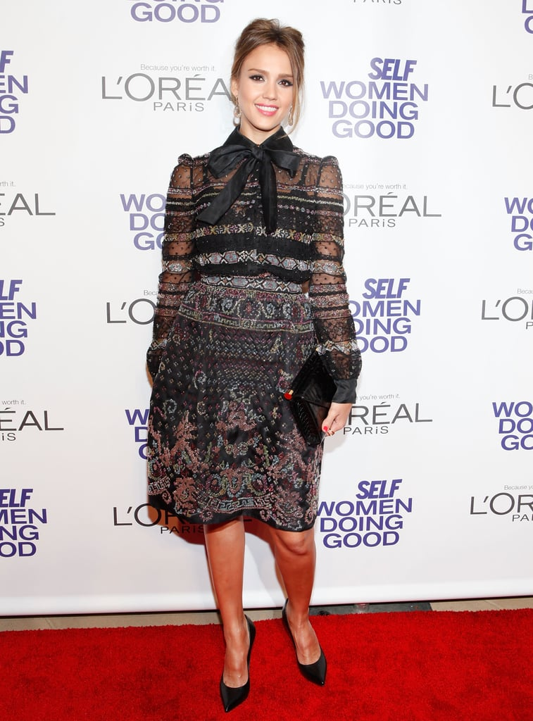 Jessica Alba stepped out for the Self magazine Women Doing Good Awards in NYC.