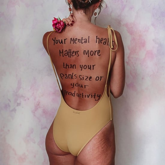 Body Positive Quotes Written on Back of Danae Mercer