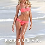 Candice Swanepoel worked on a swimwear photo shoot for Victoria's Secret.