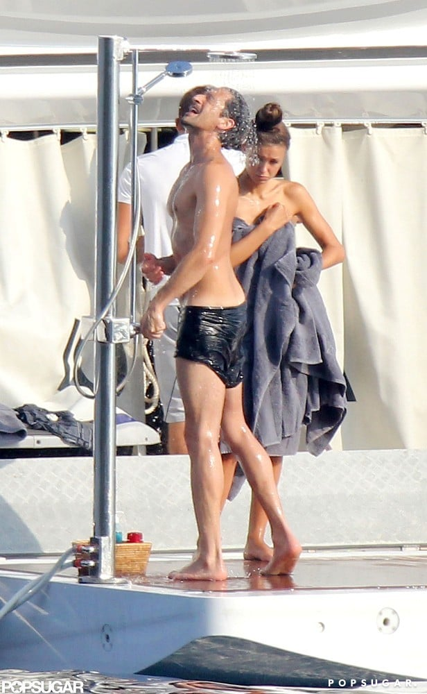 Adrien Brody Shirtless Kissing Girlfriend France Pictures Popsugar Celebrity