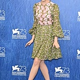 Emma Stone Looked Lovely in Her Floral Dress