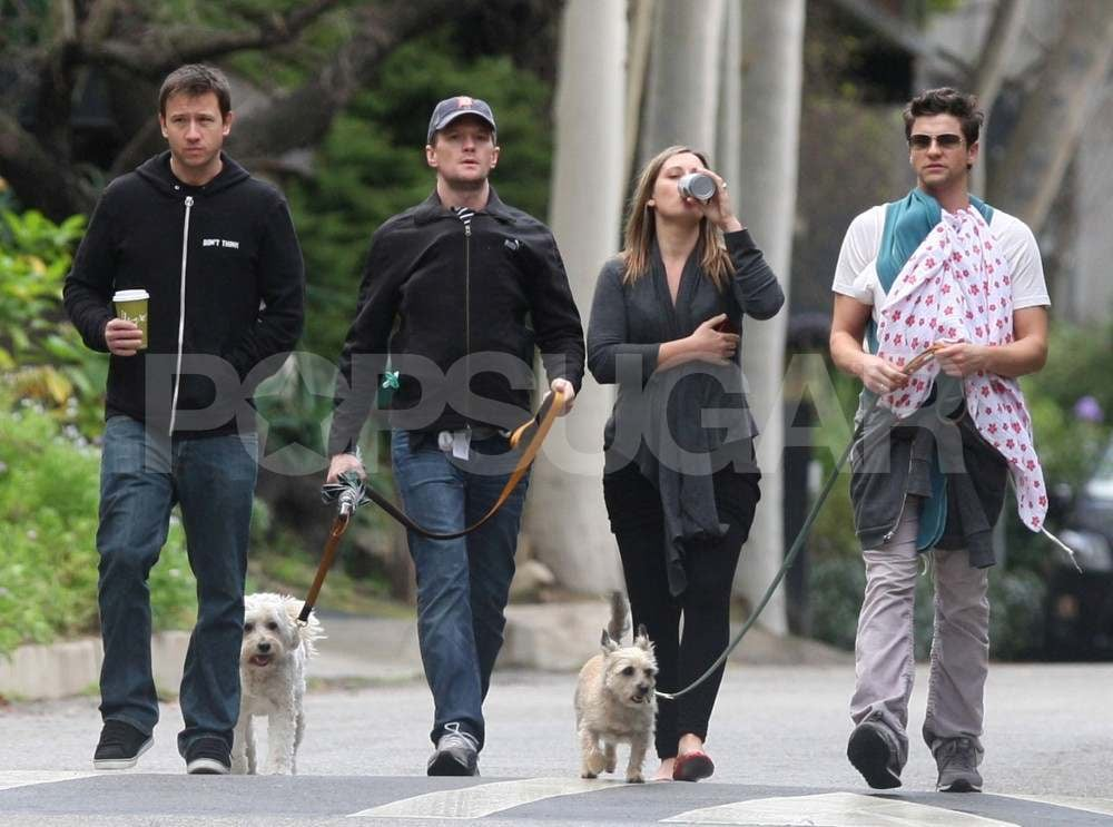 twin toddler leash pictures of neil patrick harris and david burtka with twins gideon