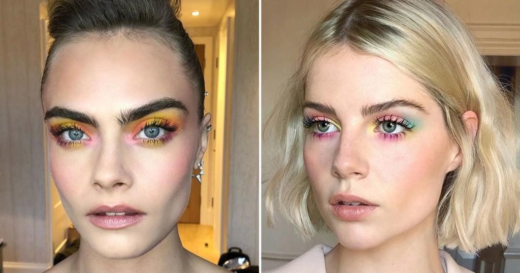 Cara Delevingne and Lucy Boynton Wear Tie-Dye Eye Makeup