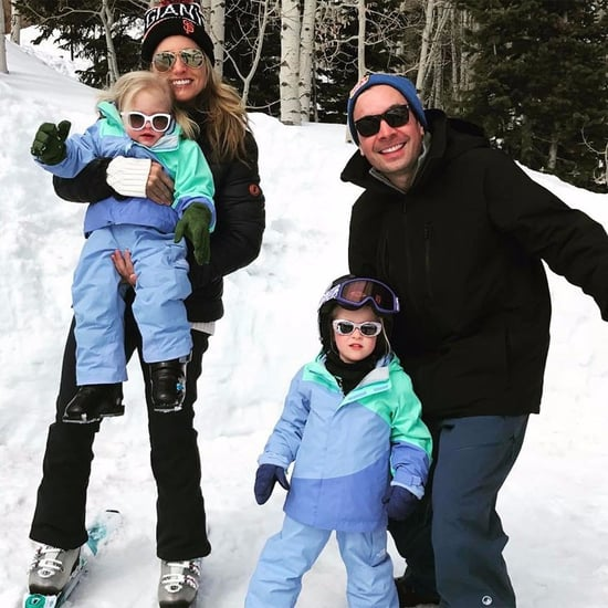 Jimmy Fallon and Family Ski Trip Photo March 2017
