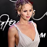 Jennifer Lawrence Wears Flowers in Her Hair