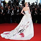 The Back of Elle Fanning's Viviene Westwood Couture Gown Featured a Hand-Painted Design
