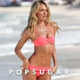 Candice Swanepoel worked her magic on the beach.