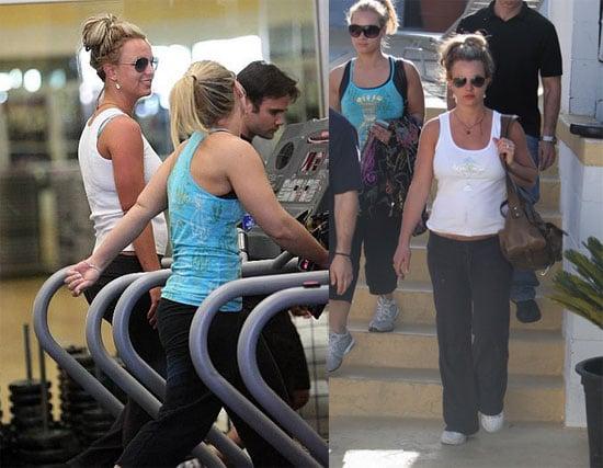 Britney Works It Out, Sam Still Stays Away
