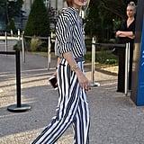 Stripes on Stripes For Giambattista Valli