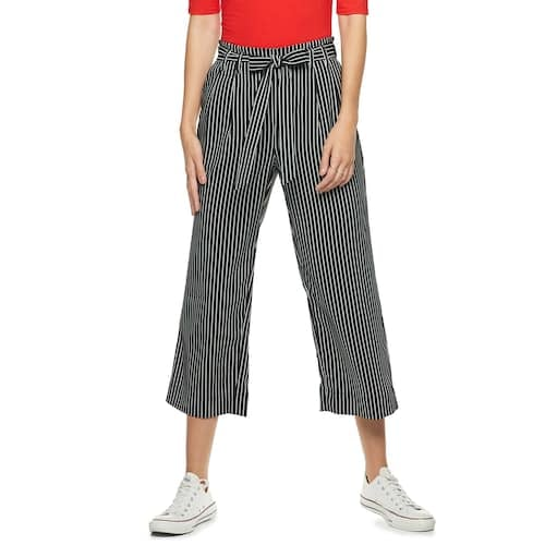 POPSUGAR Paperbag-Waist Wide Leg Crop Pants