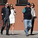 Kate Bosworth and Michael Polish visited Ground Zero on the 11th anniversary of 9/11.