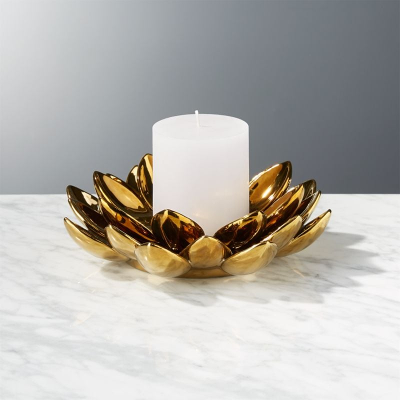 Bonnie: Two-Piece Lotus Flower Candle Holder