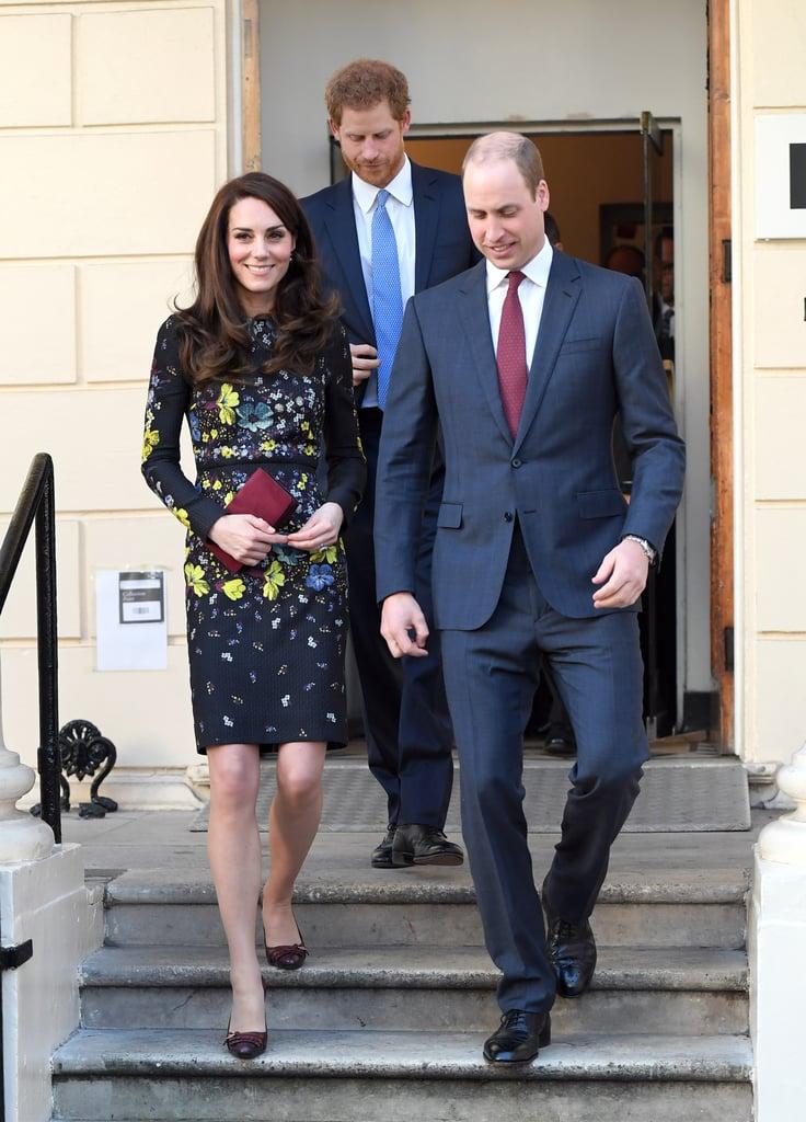 Kate Middleton Floral Erdem Dress Jan. 2017 | POPSUGAR Fashion
