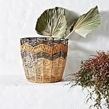 Handpainted Rattan Basket