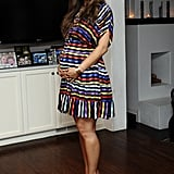 Pregnant Ali Landry at a Lucky magazine event.