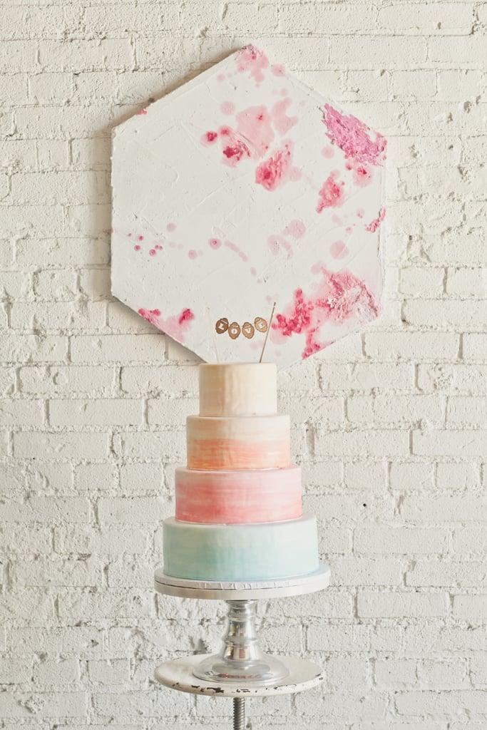Pastel Painterly Cake