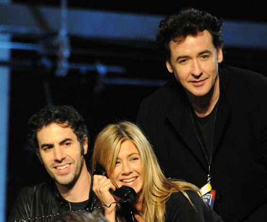 Slide Photo of Sacha Baron Cohen, Jennifer Aniston and John Cusack at Haiti Telethon
