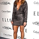 At the 2011 Elle Women in Hollwood Awards, Jennifer wore a silver mini dress with a deep neckline.