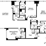 The floor plan of Cristiano Ronaldo's reported New York City home.