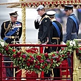 Back in 2012, Harry and Prince Philip hung out together on the royal barge before the Diamond Jubilee River Pageant began.