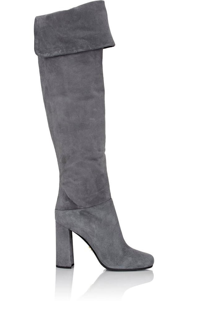 9808ea75f686 Prada Suede Over-the-Knee Boots ( 1