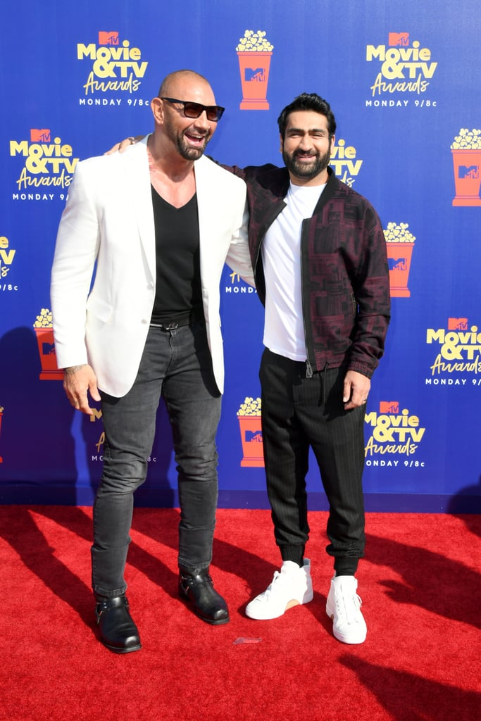 Dave Bautista and Kumai Nanjiani at the 2019 MTV Movie and TV Awards