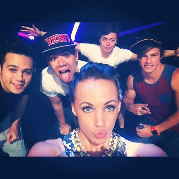 Samantha Jade with The Collective, minus Zach. Source: Instagram user samantha_jade_music