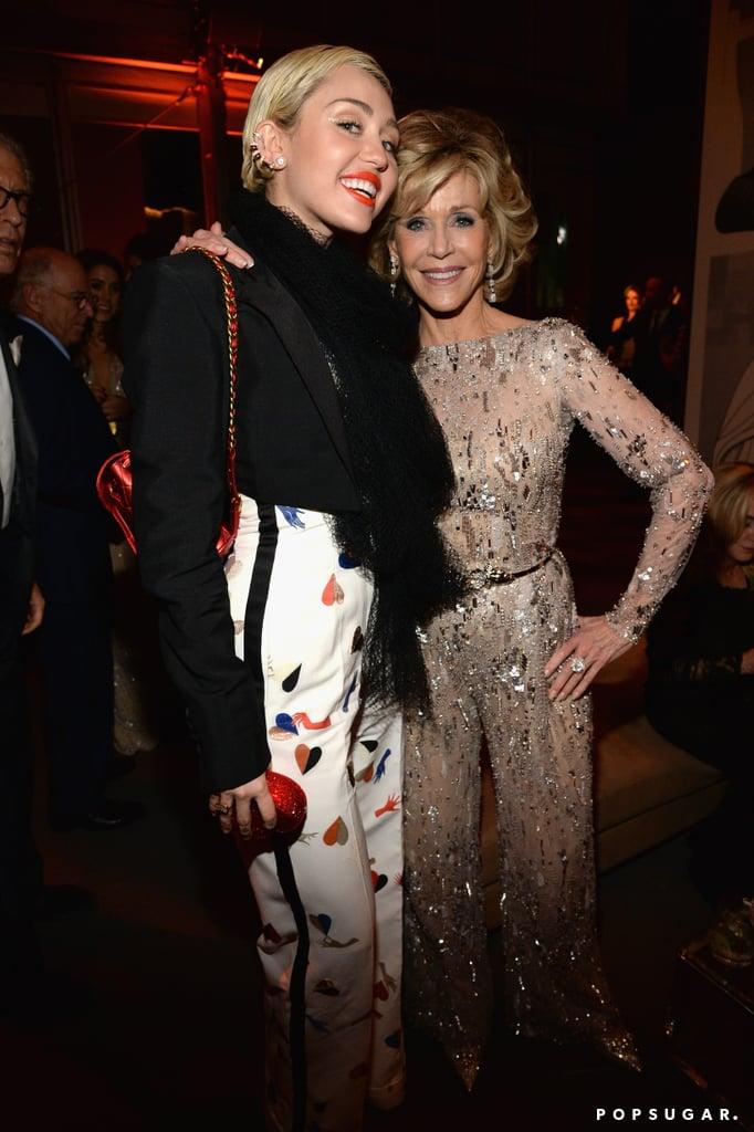 Miley Cyrus and Jane Fonda