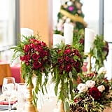 Red Rose Candlestick Decoration