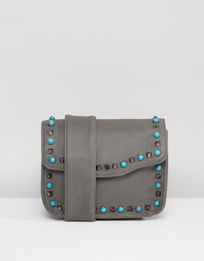 Yoki Fashion Studded Crossbody Bag