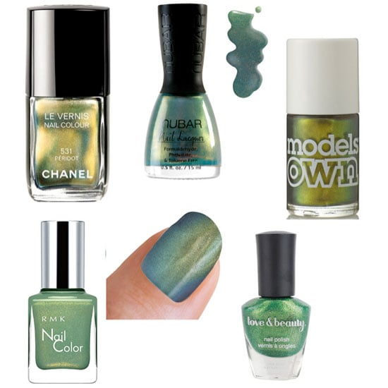 Trendy Metallic Green Nails For Fall 2011