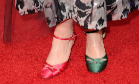 Guess Who Wore Two Different Coloured Shoes on the Golden Globes Red Carpet