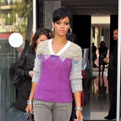 Rihanna Shops in Paris