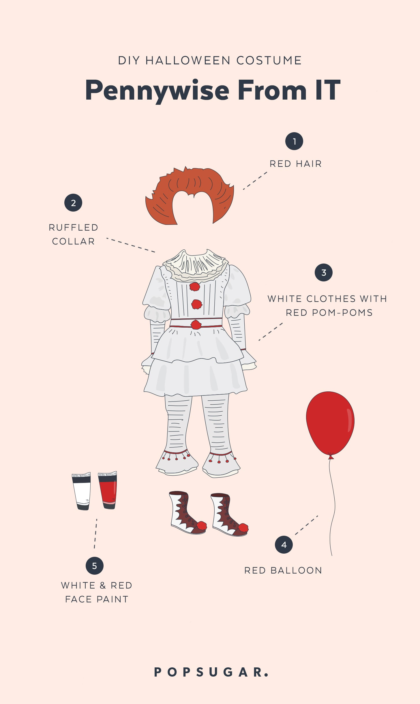 Pennywise from it halloween costume popsugar australia smart living check out the rest of our top 10 halloween costumes for 2017 solutioingenieria Choice Image
