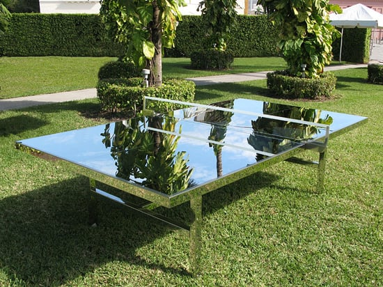 Sugar Shout Out: Check Out This Mirrored Ping-Pong Table