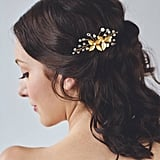 Etsy Gold Leaf Hair Comb
