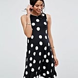 Sleeveless Swing Dress in Polka Dot