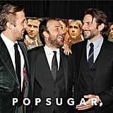 Ryan Gosling, director Derek Cianfrance, and Bradley Cooper shared a laugh.