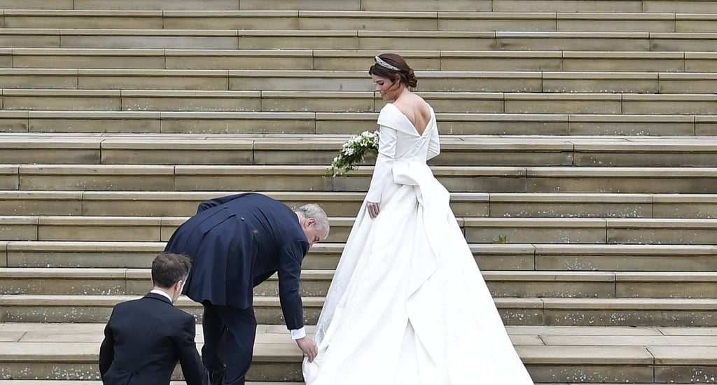 Prince Andrew Helping Eugenie With Her Wedding Dress Video ...