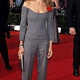 I love that she chose this gray Vivienne Westwood suit for the Screen Actors Guild Awards in 2000. So cool.