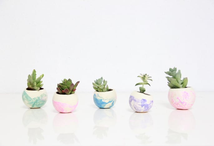 Marbleized Air Plant Pots
