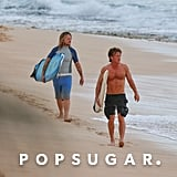 Sean Penn went surfing with a friend in Hawaii.