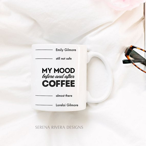 My Mood Before and After Coffee Mug