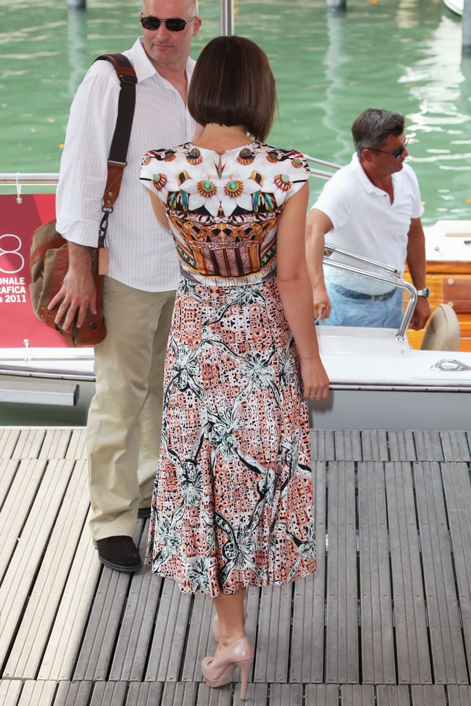 Keira Knightley showed off the back of her dress at the Venice Film Festival.