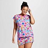 Plus Size Lisa Frank Tee & Shorts Pajamas Set