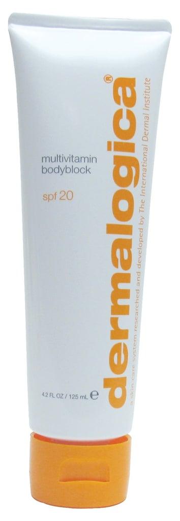 Dermalogica MultiVitamin BodyBlock sun cream SPF 20 product review by BellaSugar UK