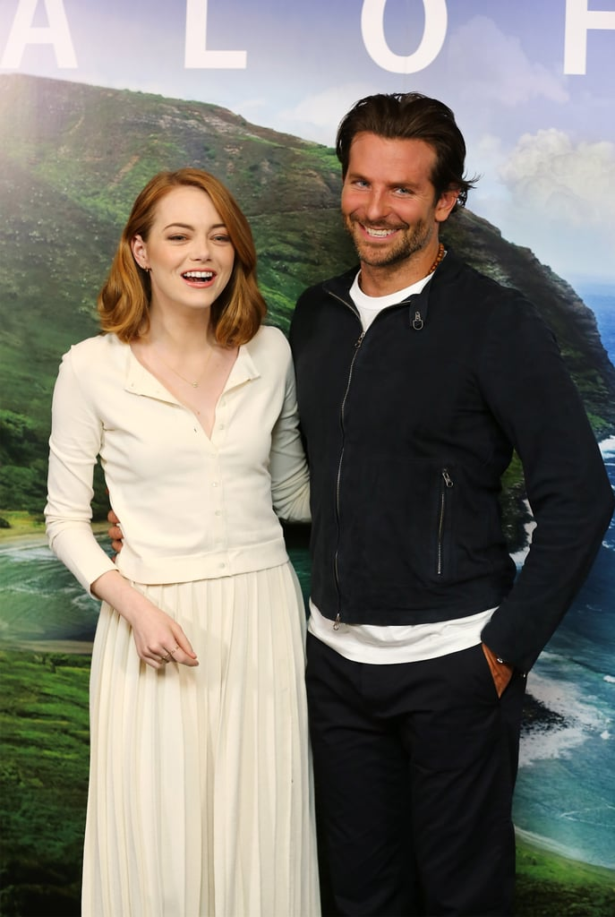 Emma Stone and Bradley Cooper