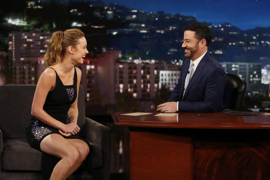 Brie Larson's David Koma Dress on Jimmy Kimmel Live