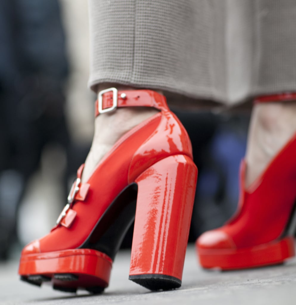 Nothing says ka-pow like a pair of red lacquered heels.